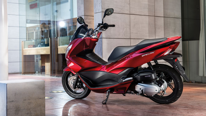 Honda-Scooter-PCX150-En situation-Rouge Pearl Siena-Statique