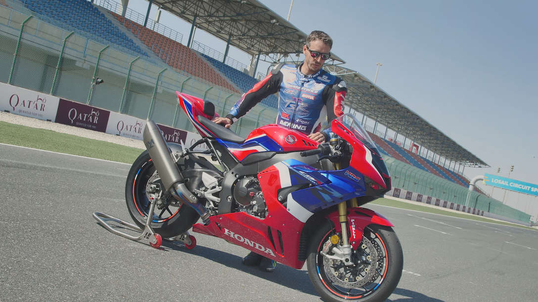 Freddy Foray stood next to the 2020 CBR1000RR-R Fireblade SP