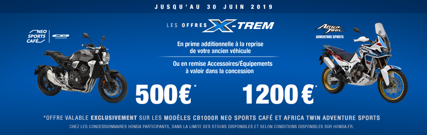 Offre X-trem Africa Twin CB1000R